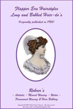 1924 Flapper Hairstyle Book LONG & Short Glam Hairstyles How to DIY Beautician image 2