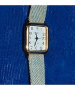 14K GENEVA WATCH / DENIM BAND  - $30.00