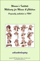 1924 Millinery Book Flapper Era Infant to Teens Hat Bonnet Patterns DIY ... - $11.93