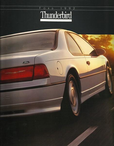 1992 Ford THUNDERBIRD sales brochure catalog US 92 LX SC