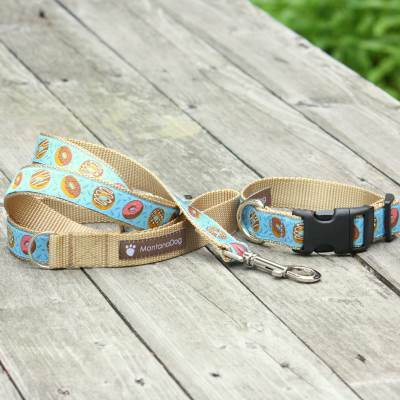Donuts for Him Jacquard Dog Leash (120cm, 4ft.) / Made in Japan