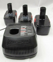 Craftsman 1425301 7.2v - 24v Battery Charger With 3 OEM 19.2 Volt Batteries - $49.99