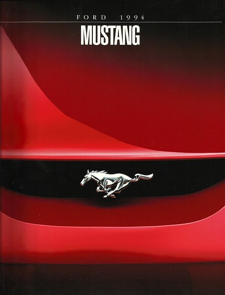 1994 Ford MUSTANG sales brochure catalog 1st Edition 94 US V6 GT