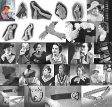 1935 Prohibition Hat Glove Patterns Book DIY Millinary  Reenactment Reen... - $11.93