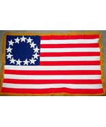 HAND CROCHETED Stars and Stripes Flag Afaghan / Patriotic / Military /  - $44.99