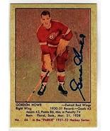 GORDIE HOWE 1951 Parkhurst #66 Rookie Card HOF REPRINT - Hockey Card - $5.89