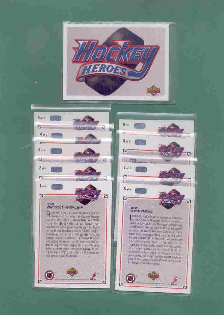 1991/92 Upper Deck Brett Hull Hero Hockey Set