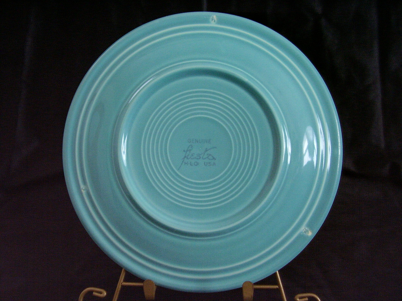 Vintage Fiestaware Turquoise Lunch Plate Fiesta  F