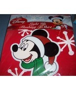 Disney Light Up Mickey Mouse Flashing T-Shirt SZ L NEW - $19.00