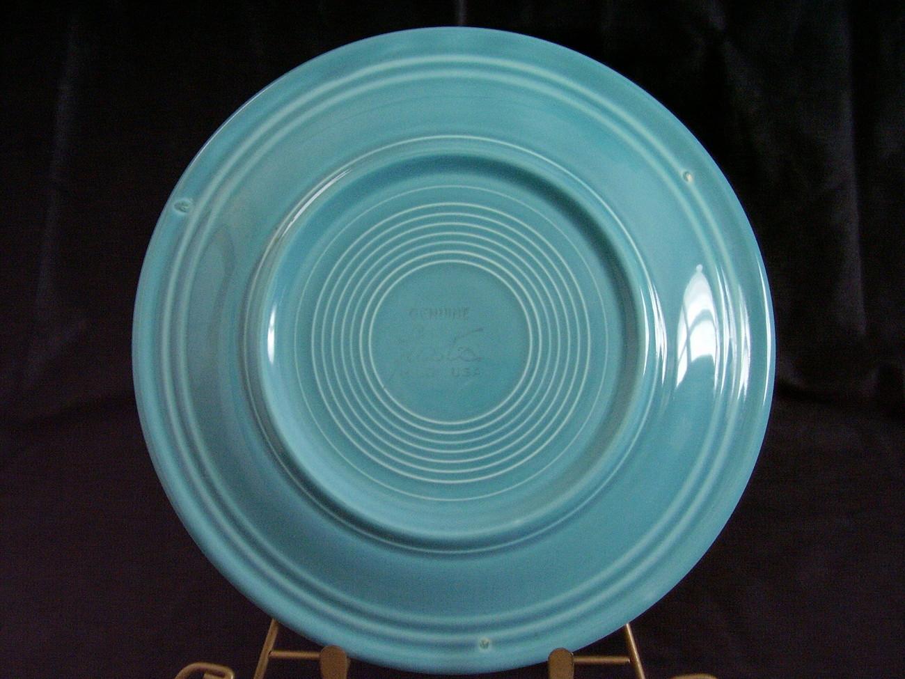 Vintage Fiestaware Turquoise Lunch Plate Fiesta  E