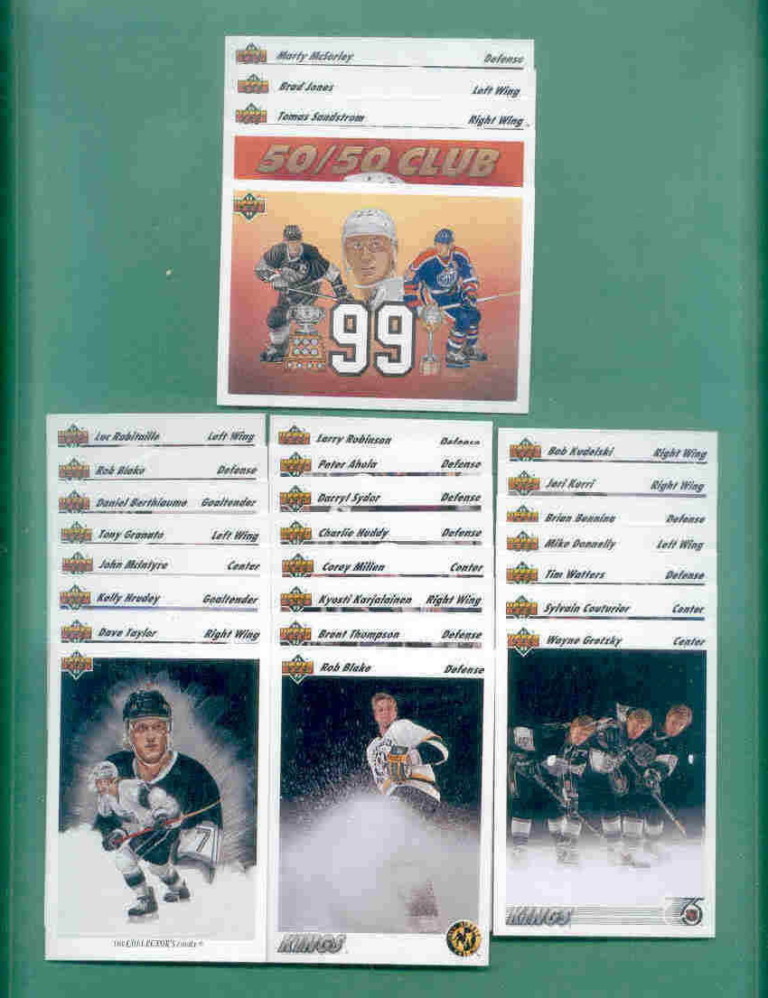 1991/92 Upper Deck Los Angeles Kings Hockey Team Set