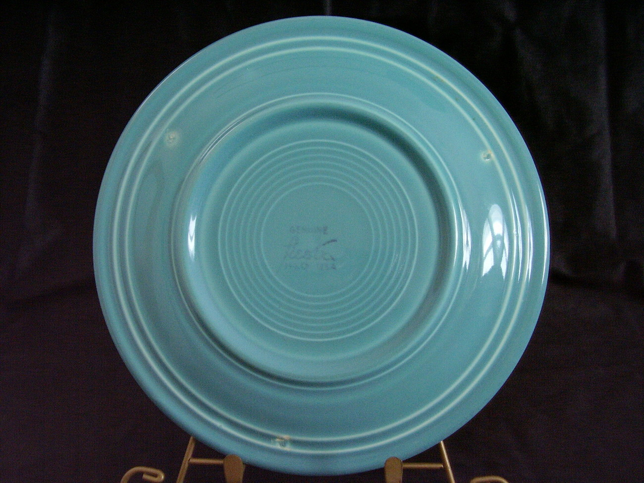 Vintage Fiestaware Turquoise Lunch Plate Fiesta  C