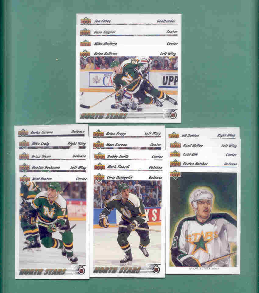 1991/92 Upper Deck Minnesota North Stars Hockey Team Set