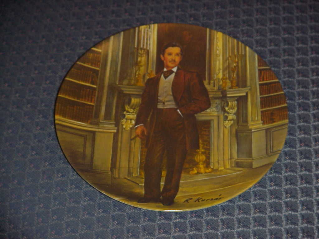 Knowles Collectors Plate, Gone With The Wind, Scarlett & Rhe