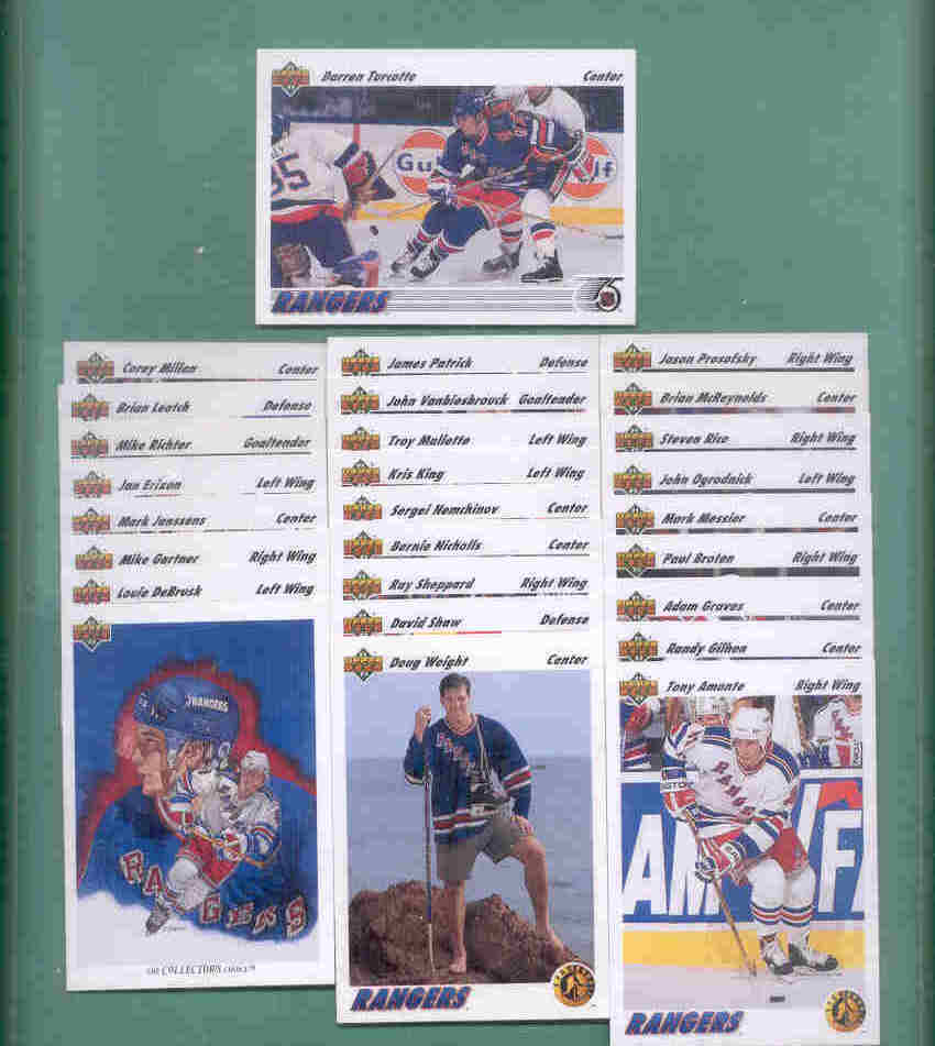 1991/92 Upper Deck New York Islanders Hockey Team Set