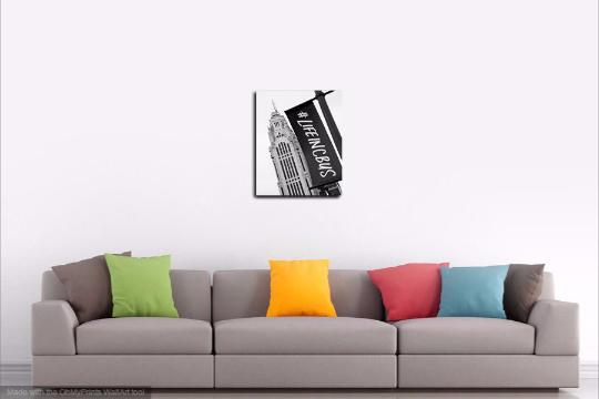 """Columbus, Ohio Black and White Wall Decor Print - """"LifeInCbus"""""""