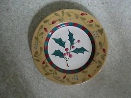 SIGNATURE HOUSEWARES plate w/Christmas decor - $1.97