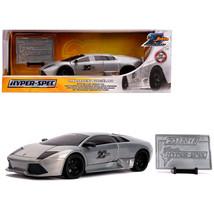 Lamborghini Murcielago Raw Metal Hyper-Spec Jada 20th Anniversary 1/24 D... - $41.87