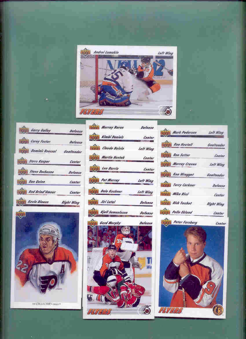 1991/92 Upper Deck Philadelphia Flyers Hockey Team Set