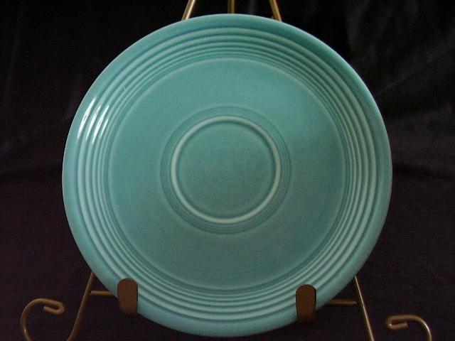 Vintage Fiestaware Turquoise Saucer Fiesta  J