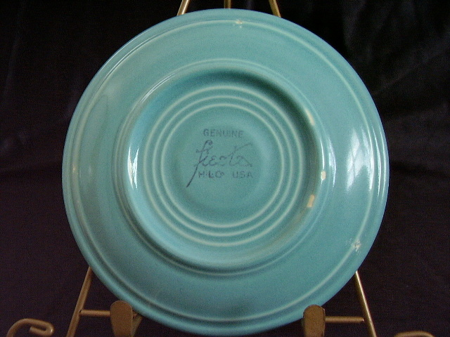 Vintage Fiestaware Turquoise Saucer Fiesta  K