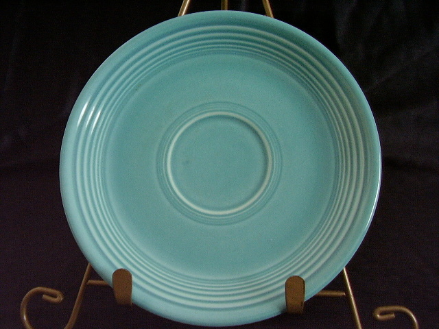 Vintage Fiestaware Turquoise Saucer Fiesta  H