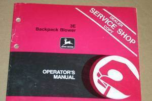 Primary image for JD John Deere 3e Backpack Blower Operators Manual