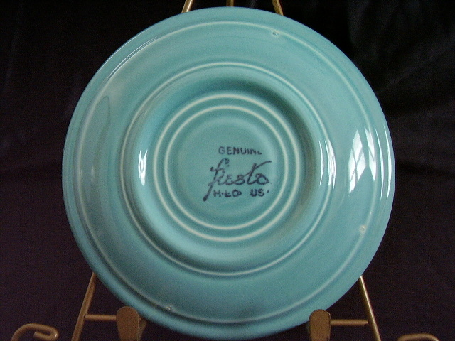 Vintage Fiestaware Turquoise Saucer Fiesta  D