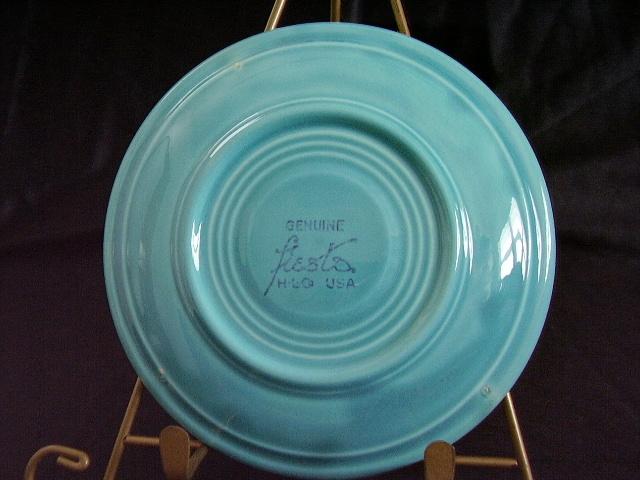 Vintage Fiestaware Turquoise Saucer Fiesta  C