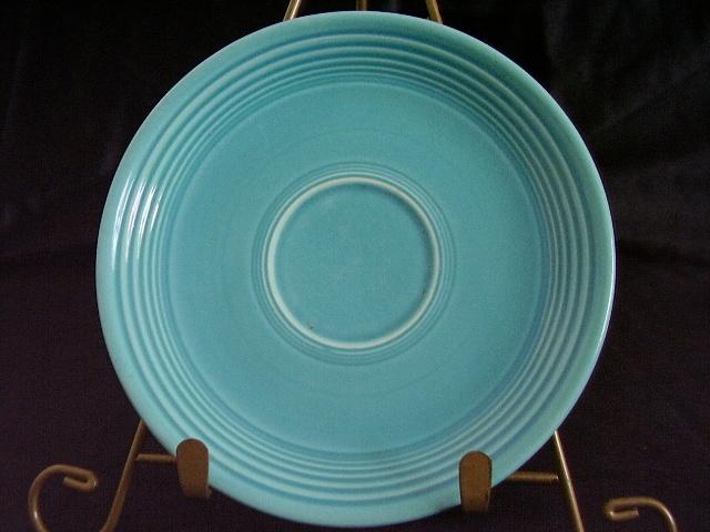 Vintage Fiestaware Turquoise Saucer Fiesta  B