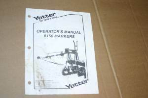 Primary image for Yetter 6150, Markers  Operators Manual