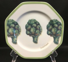 "Williams Sonoma Vegetable Garden Artichoke 8"" Salad Plate - $9.99"