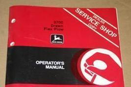 JD John Deere 3700 Drawn Flex Plow Operators Manual - $24.95
