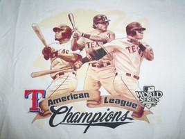 MLB Texas Rangers Baseball 2010 American League Champs Graphic Print T S... - $17.17