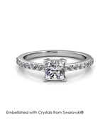 Simple Square Ring - Embellished with Crystals from Swarovski® - $29.95