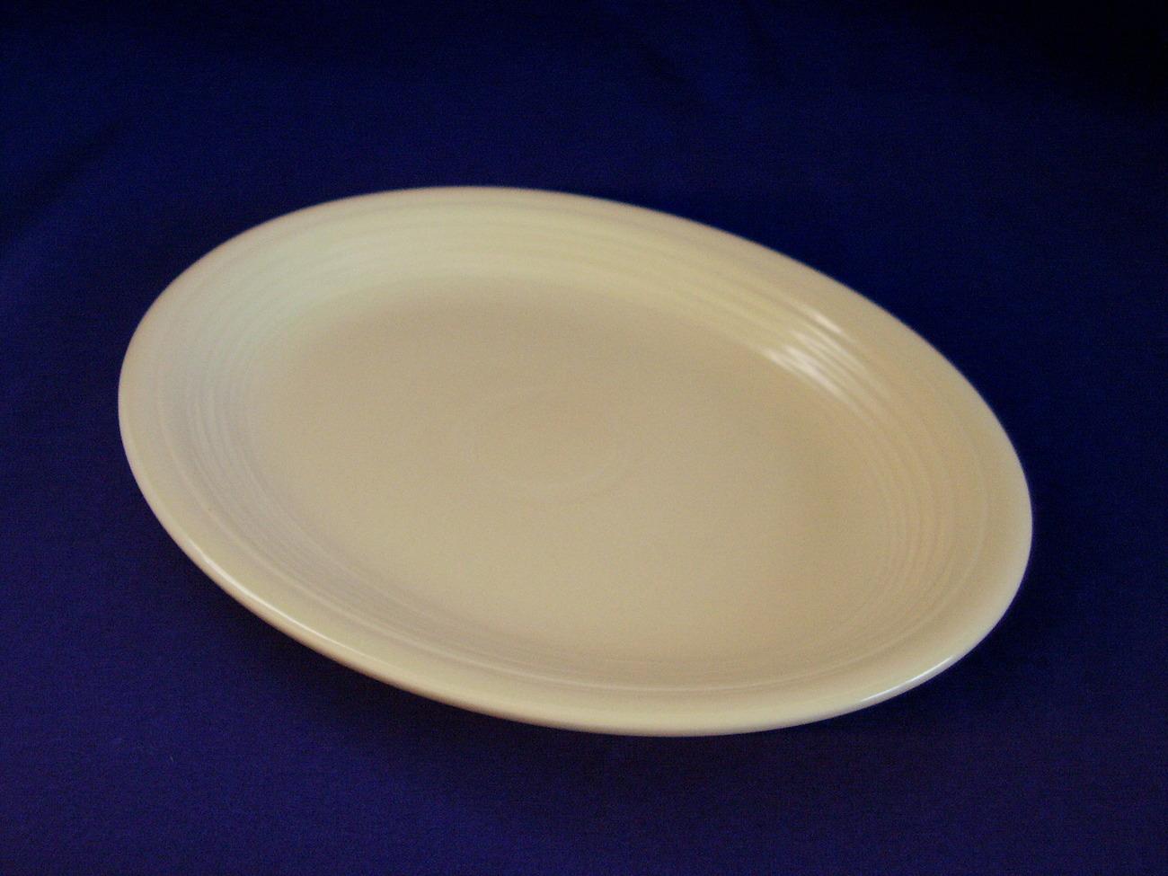 Vintage Fiestaware Ivory Oval Serving Platter Fiesta  B