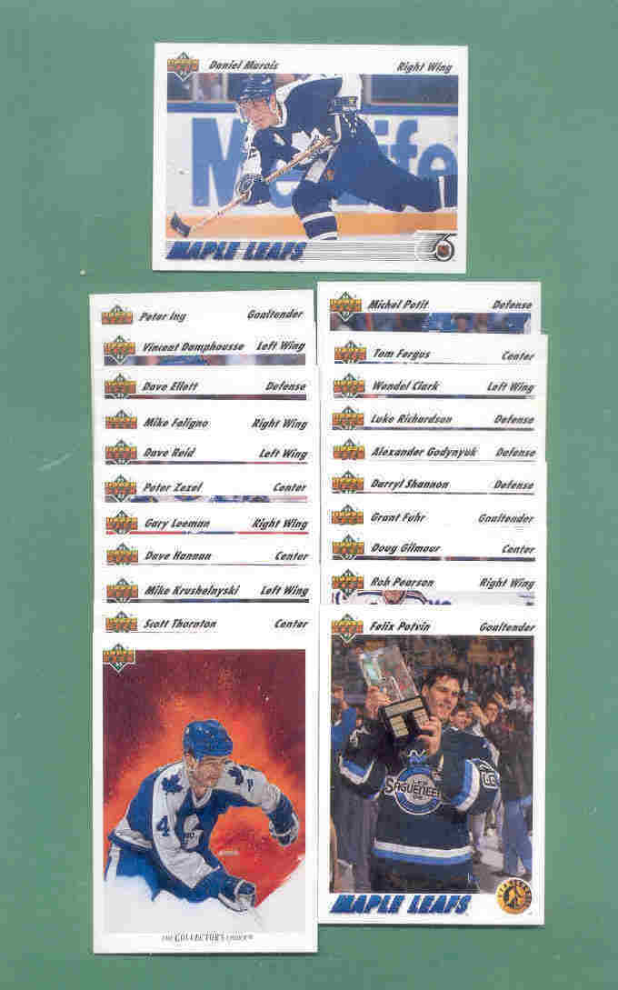 1991/92 Upper Deck Toronto Maple Leafs Hockey Team Set