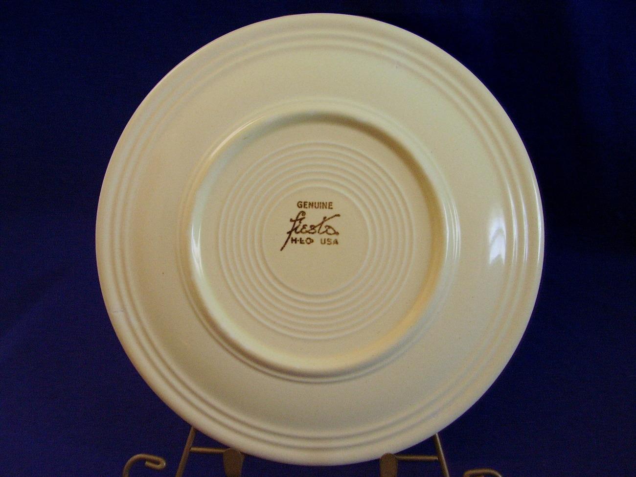 Vintage Fiestaware Ivory Lunch Plate Fiesta  D