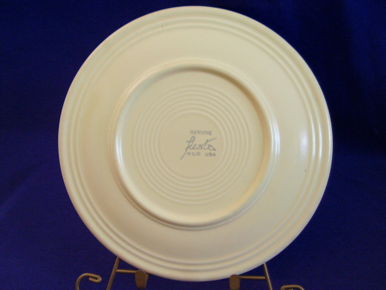 Vintage Fiestaware Ivory Lunch Plate Fiesta  C