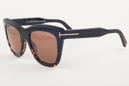 Tom Ford 685 Julie Shiny Black Dark Havana / Brown Sunglasses TF685 05E ... - $195.02