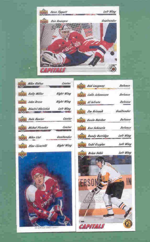 1991/92 Upper Deck Washington Capitals Hockey Team Set