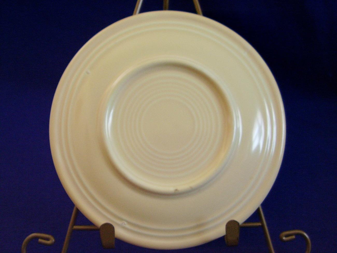 Vintage Fiestaware Ivory Bread Butter Plate Fiesta  A