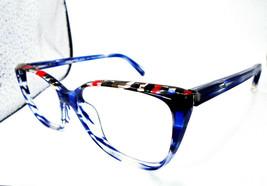 Alain Mikli A03082 005 Blue 54-15-140 Womens Cateye Eyeglasses Frames Italy - $59.49