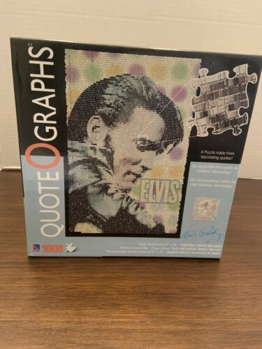 Elvis Presley Puzzle Made From Quotes 1000 Pcs Plus Wall Poster Quote O Graphs