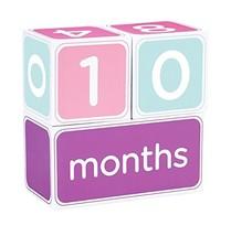 Pearhead Baby Age Photo Sharing Blocks Pink - $23.23