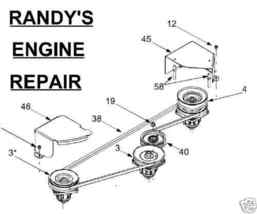 Spindle Assembly Double Pulley MTD 48 Inch Deck 618-0594 918-0596 918-0596B