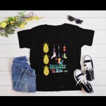 Enchanted Tiki Room Magic Kingdom Colorful Exotic Birds Flowers Black T-... - $42.99+