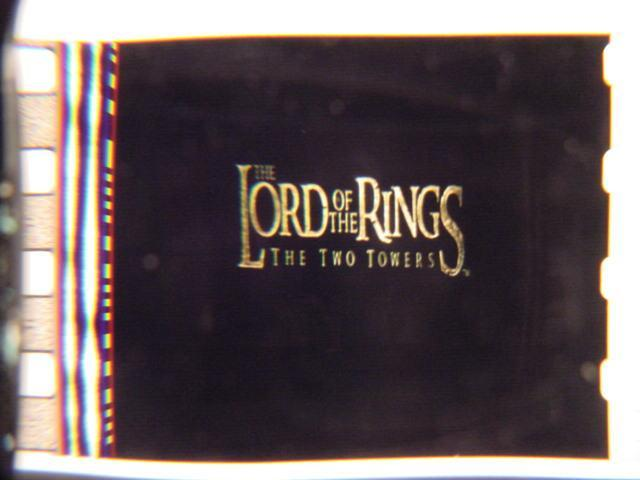 Lord of the Rings 35mm film cell Two Towers Slide 1