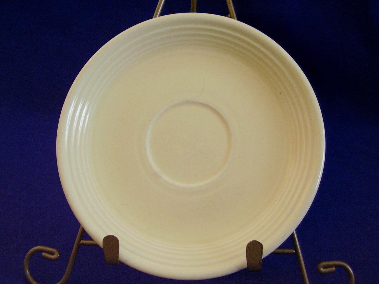 Vintage Fiestaware Ivory Teacup Coffee Saucer Fiesta  E
