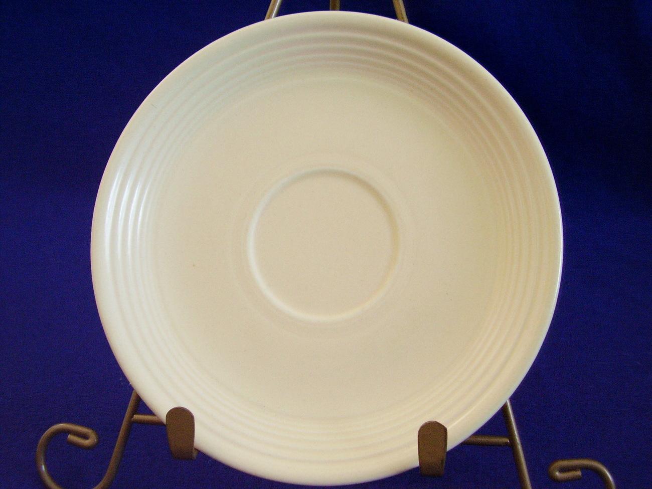 Vintage Fiestaware Ivory Teacup Coffee Cup Saucer  D